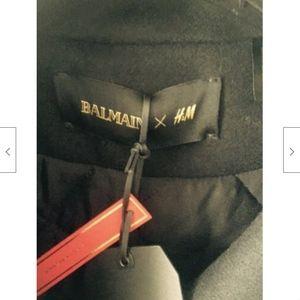 Balmain Jackets & Coats - NWT Balmain x H&M Black Wool Peacoat SZ 12